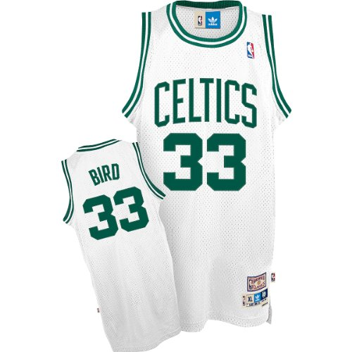 NBA Boston Celtics Larry Bird Swingman Jersey, White, Small