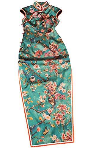 Prima Seda Artesania Cheongsam Qipao Vestido Chino Adaptado de Novia #106