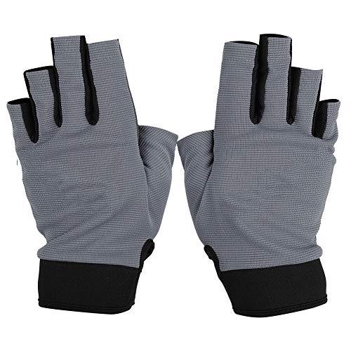 BOODUN Paire De Gants De Pêche Demi-doigt Protection Des Mains Respirante Et étanche Pour Le Kayak En Plein Air Randonnée Gris