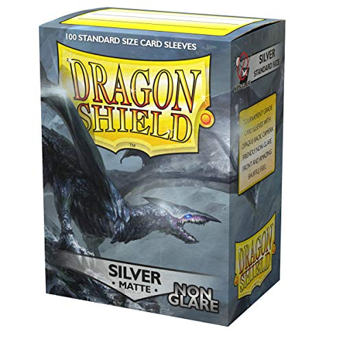 Dragon Shield Non-Glare Matte Silver Standard Size 100 ct Card Sleeves Individual Pack