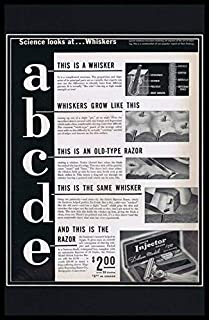 1937 Schick Injector Razor Framed 11x17 ORIGINAL Vintage Advertising Poster
