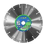 S&R Disco Diamante 230 x 22,23 x 2,2 x 10 mm Corte Piedra, Hormigón, Granito, Piedra, Mármol, Mampostería
