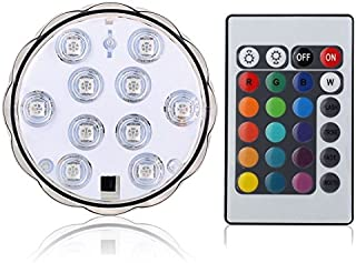 Lyyes Submersible LED Lights Battery Operated Led Lights Waterproof Colorful Pool LED Lights for Vase Base,Hot Tub,Aquariu...