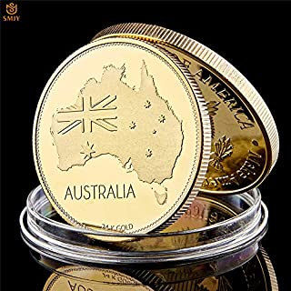 Momoso_store 2016 Sydney Opera House World Cultural Heritage Australia New South Wales Gold-Plated Art Crafts Commemorative Coin Collection, repilica Toys