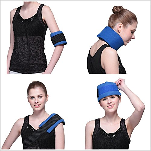 Rainbow Gel Ice Pack & Wrap with Elastic Strap for Heat Cold Therapy( Head, Neck, Arm, Elbow, Knee, Ankle)