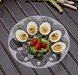 Juego de 3 bandejas de plástico rígido para huevos   Platos para huevos   Cada bandeja tiene capacidad para 9 huevos   9 pulgadas (23 cm)