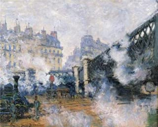 Oil Painting 'Saint-Lazare Station, The Pont De L'Europe, 1877 By Claude Monet' Printing On Perfect Effect Canvas , 20x25 Inch / 51x63 Cm ,the Best Dining Room Artwork And Home Decor And Gifts Is This High Resolution Art Decorative Prints On Canvas