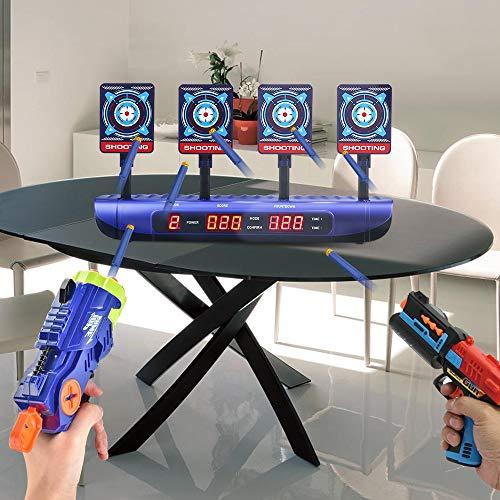 Objetivos de tiro para pistolas Nerf Puntuación electrónica Reinicio automático Objetivos digitales Juguetes para niños de 6 7 8 9 10 años Regalos de cumpleaños para niños