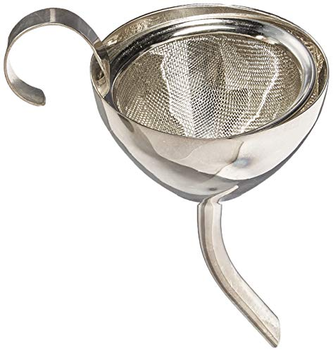 Franmara 9316 6 Inch Silver Plated Stainless Steel Wine Funnel with Filter Screen, 1