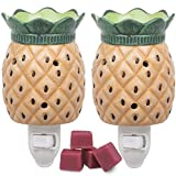 Deco Plug-in Fragrance Wax Melt Warmer, Set of 2 Includes 4 Wax Cubes (5x3) - Pineapple - ...