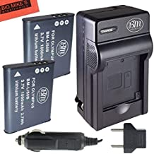 BM 2 LI-50B Batteries and Battery Charger for Olympus Stylus SH-25MR SZ-12 SZ-15 SZ-16 SZ-20 SZ-30MR SZ31MR TG-610 TG-630 TG-810 TG-820 TG-830 TG-850 TG-850 TG-860 TG-870 VG-190 XZ-1 XZ-16 Cameras