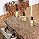 ZMH Lampada a sospensione vintage Lampadari design - industriale lampadario in metallo e vetro lampada da tavolo da pranzo con 3 lampadina E14 interno luci per soggiorno camera da letto