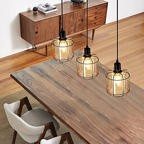 ZMH Lampada a sospensione vintage Lampadari design - industriale lampadario in metallo e vetro...