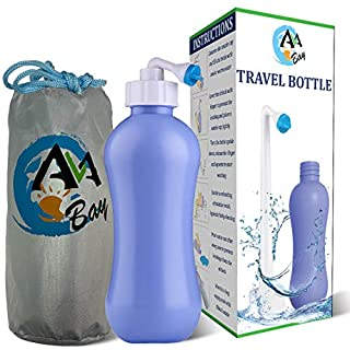 AVAbay Peri Bottle Travel Bidet-15.2oz Travel Bottle-Extended Nozzle Kit w/Discreet Storage Bag-Personal Post Partum Hygiene Care Perineal Mom Recovery-Portable Baby Spray Bottle (B07MLP95KQ) | Amazon price tracker / tracking, Amazon price history charts, Amazon price watches, Amazon price drop alerts