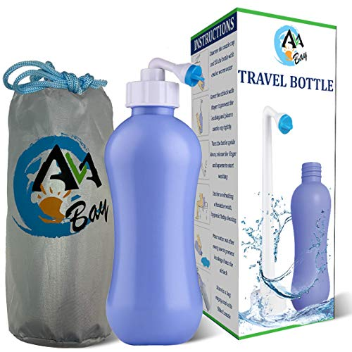 AVAbay Peri Bottle Travel Bidet-15.2oz Travel Bottle-Extended Nozzle Kit w/Discreet Storage Bag-Personal Post Partum Hygiene Care Perineal Mom Recovery-Portable Baby Spray Bottle