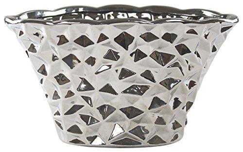 Decoline Pflanz-Gefäß Schale Silber 1 Stück - groß