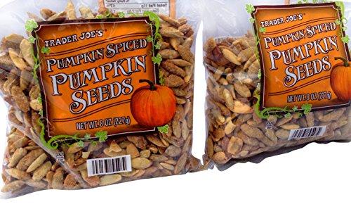Trader Joes Pumpkin Spiced Pumpkin Seeds 2 Packs 8oz. Each Bag - Total 2 Items