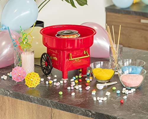 United Entertainment Máquina para hacer algodón de azúcar o algodón de azúcar, plástico, color rojo, 30 x 25 cm