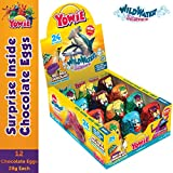 Yowie Surprise Inside Chocolate Egg | Wild Water Series 5 | Box of 12 Eggs w/ Collectible Animal Toys | Fun for All Ages and Genders