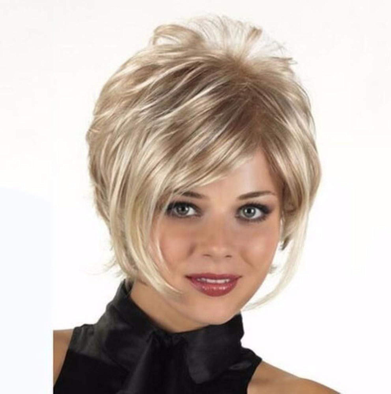 damen Perücke Goldenes kurzes lockiges Haar Hochwertige Mode natürliche Cosplay Party B07Q7ZTPYN Bequeme Berührung     | Rabatt