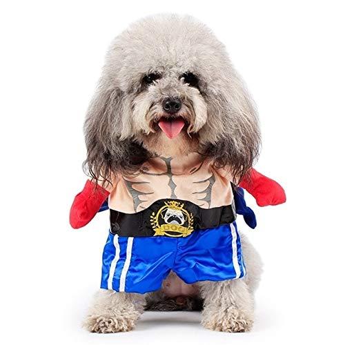 MSSJ Lustiger Hund Katze Kostüme Boxer Cosplay Anzug Haustierkleidung Halloween Weihnachten Uniform Kleidung Für Welpen Hunde Kostüm für eine Katze XL Boxer