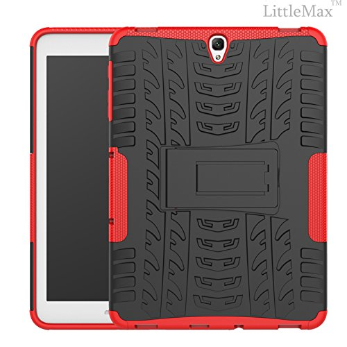Galaxy Tab S3 9.7 Case-LittleMax(TM) 2 in 1 Kickstand Protective Case Shock Proof Soft Gel Tough PC Hybrid Cover for Samsung Galaxy Tab S3 SM-T820 SM-T825 9.7 Inch Tablet-03 Red
