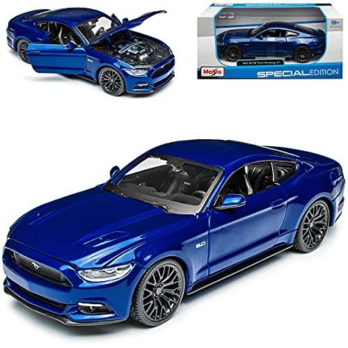 Ford Mustang VI Coupe Blau Ab 2014 1/24 Maisto Modell Auto