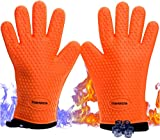No.1 Set of Silicone Smoker Oven Gloves - Extreme Heat Resistant Washable Mitts for Safe Cooking...