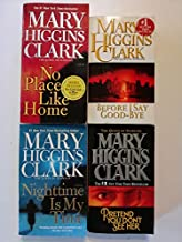 Set of 4 Suspense Novels by Mary Higgins Clark: Pretend You Don't See Her, Before I Say Goodbye, Nighttime is My Time, and...