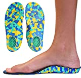 Camo Comfort Childrens Insoles for Kids with Flat Feet Who Need Arch Support by KidSole (Toddler Size 9-12)