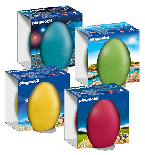 Playmobil Set di 4 uova di Pasqua 9415 9416 9417 9418