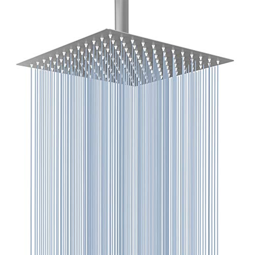 Voolan Rain Shower head, High Pressure Shower Head Made of 304 Stainless Steel, Relaxed Shower Experience Even at Low Water Flow & Pressure