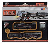 This is an excellent train which will take you in the days of your grand father because in those times only steam engines use to run An excellent gifting option, in birthday parties 13 piece train set with engine, 1 locomotives,10 sets of tracks,1 bo...