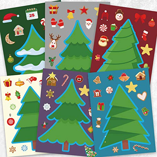 Funnlot Christmas Crafts for Kids Christmas Stickers for Kids Christmas Tree Stickers Christmas Activities for Kids Toddlers Christmas Games for Kids Toddler