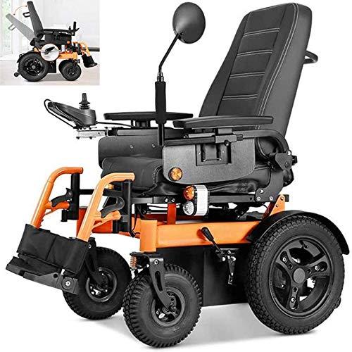 LLSS Silla de Ruedas eléctrica, 1000 W, navegación Continua, 45 km, Completamente automática, Ligera, Plegable, para discapacitados, Cuatro Rondas, Silla de Ruedas Inteligente