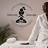 AGiuoo Mädchen Massage Silhouette Wandaufkleber Aufkleber Spa Aufkleber Spa Relax...