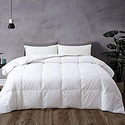 Rohi Luxurious White Feather Down Quilted 13.5 Tog Duvet - Hypoallergenic – Feather & Down Fill Quilt - 100% Cotton Shell