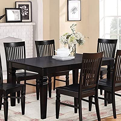 East West Furniture Weston 42-60 Inch Rectangular Dining Table with Butterfly Leaf