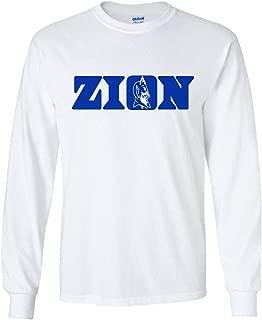 Long Sleeve White Duke Zion Logo T-Shirt