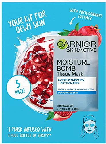 Garnier Pomegranate Sheet Mask Multipack x5