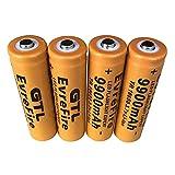 4 pcs/8pcs 18650 Battery Li-ion 9900mAh 3.7V Rechargeable Batteries Button Top Battery