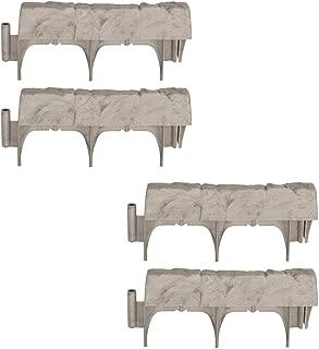 Suncast Landscape Design Border Decorative Natural Rock Stone Edging (4 Pack)