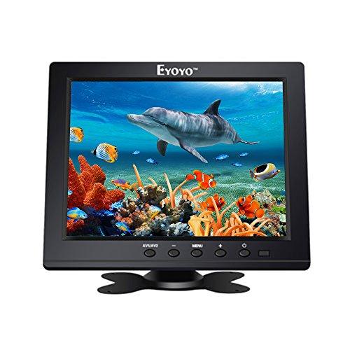 Eyoyo Eyoyo 8-Zoll HD Monitor mit Einer Auflösung von 1024 x 768, tragbarer 4: 3 TFT LCD Mini HD Farbvideobildschirm Monitor