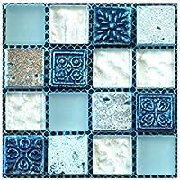 YWLINK 20Pcs Autoadhesivo Azulejo De La Pared del Piso Sticker Decal DIY Cocina BañO DecoracióN