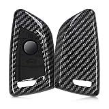 kwmobile Funda Compatible con BMW Llave de Coche Smart Key de 3 Botones - Carcasa Dura para Llave de Coche Mando de Auto - Carbono Negro