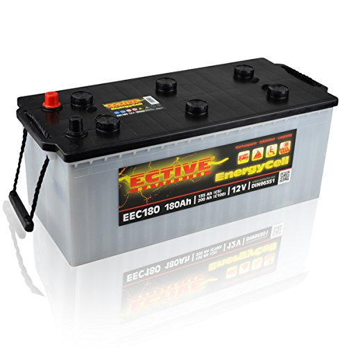 Preisvergleich Produktbild ECTIVE 12V 180Ah Nass Batterie EEC-Serie Solar Versorgungsbatterie in 5 Varianten: 80Ah - 230Ah (wartungsfrei)