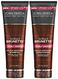 John Frieda Brilliant Brunette Visibly Deeper Bundle: Color Deepening Shampoo & Conditioner, 8.3 Ounce Each