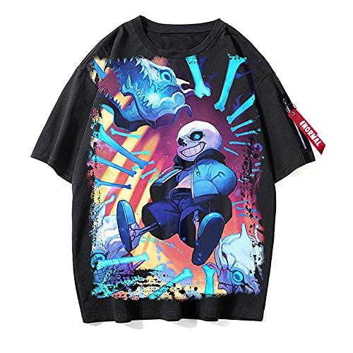 BZWJJP Cotton tee Shirt Undertale Camiseta de Manga Corta para Hombre