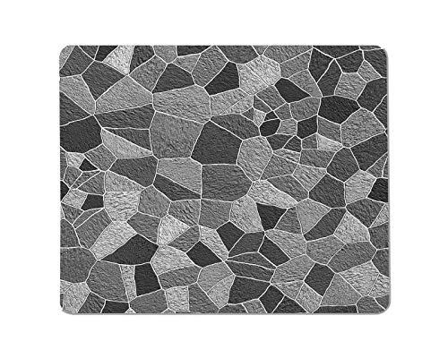 Yeuss Muren textuur Rechthoekige anti-slip Mousepad Grunge muur achtergrond. Grijs abstract patroon Gaming muismat 200mm x 240mm