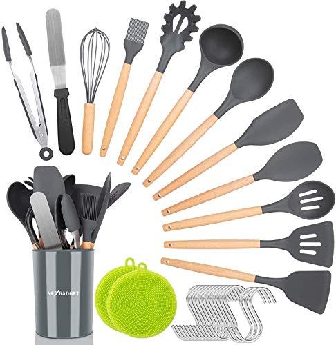 NEXGADGET Kitchen Utensil Set 30...